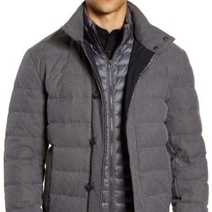 BNWT Cole Haan gray quilted Parka XLarge downfill